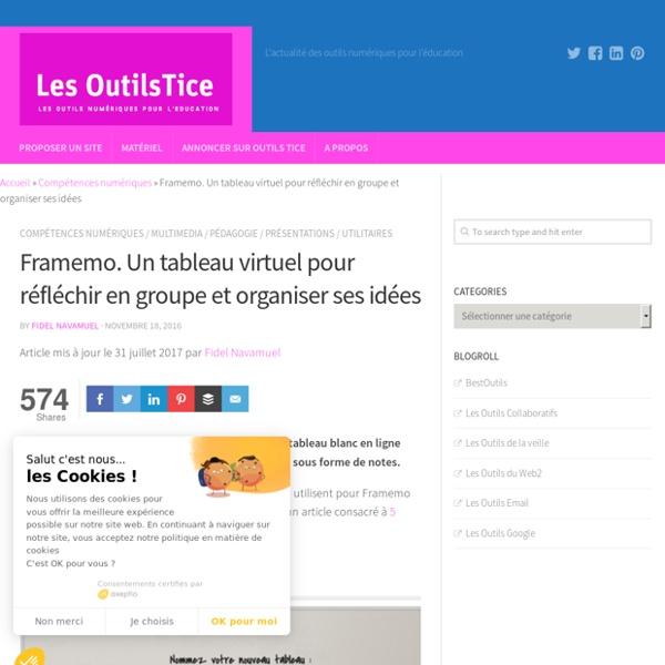 Framemo. Un tableau virtuel pour réfléchir en groupe et organiser ses idées – Les Outils Tice
