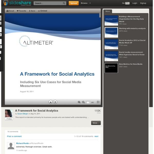 A Framework for Social Analytics