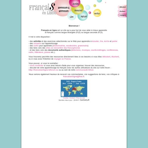 FRANCAIS EN LIGNE : conseils, outils et liens