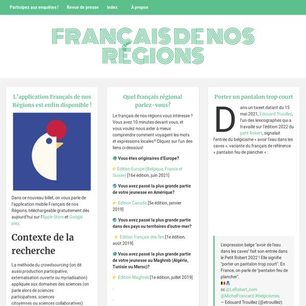Français de nos régions