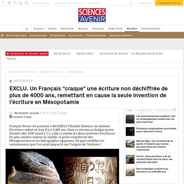 Un Français déchiffre une écriture de plus de 4000 ans