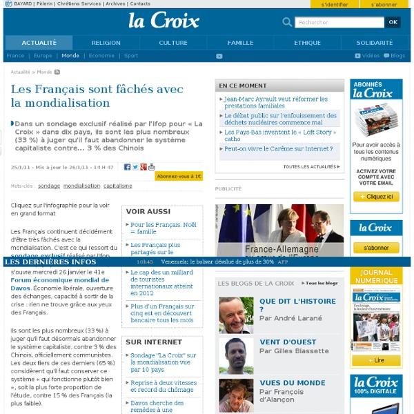 Les Français contre la mondialisation 2011