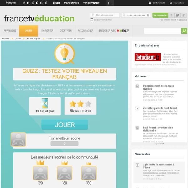 Testez votre niveau en français