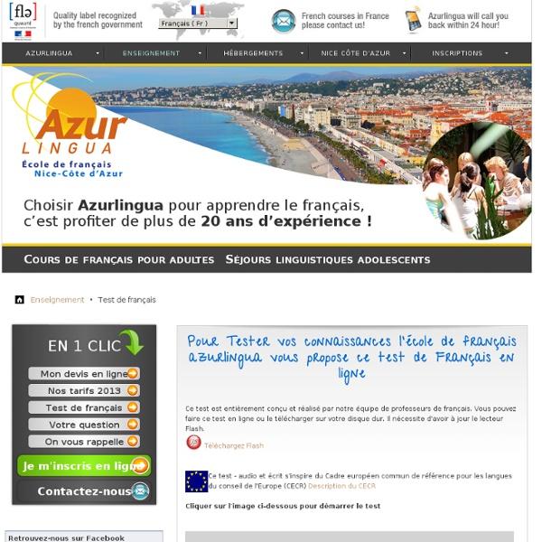 Test de français en ligne gratuit - Azurlingua