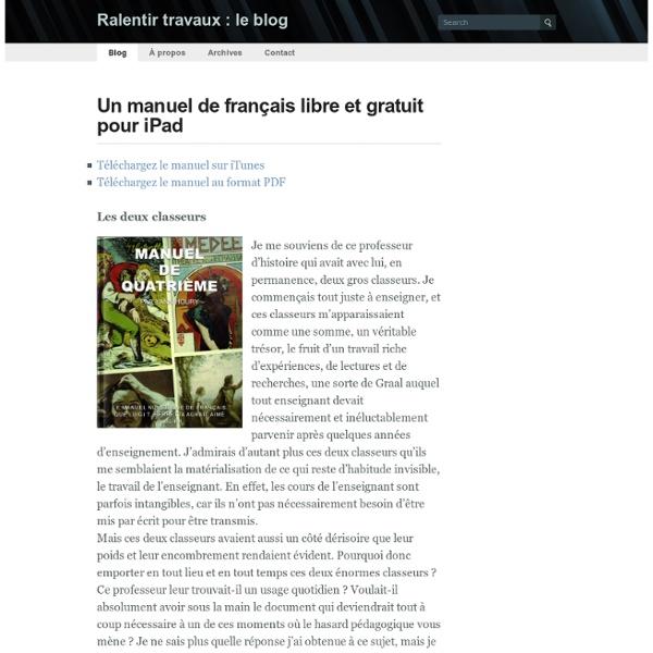 Un manuel de français libre et gratuit pour iPad