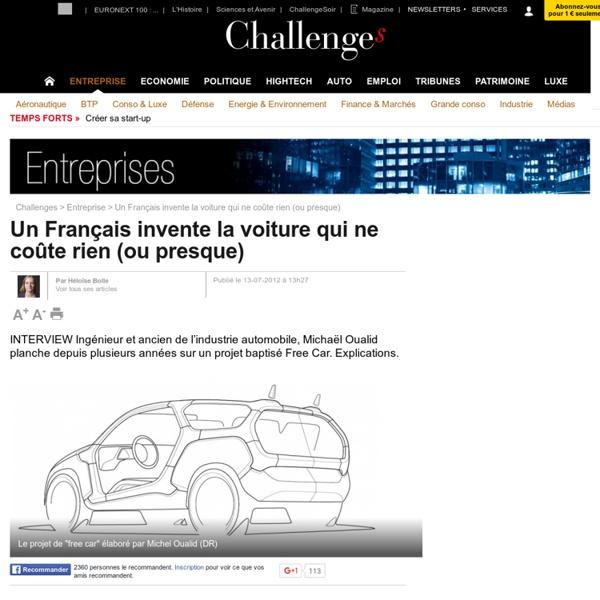 Un Français invente la voiture qui ne coûte rien (ou presque)
