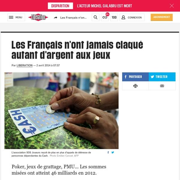 Les Français n'ont jamais claqué autant d'argent aux jeux
