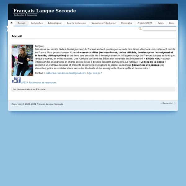 Français Langue Seconde » Alphabétisation