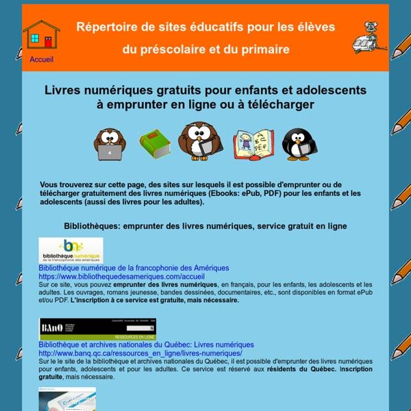 Sites Educatifs Pour Le Prescolaire Et Le Primaire