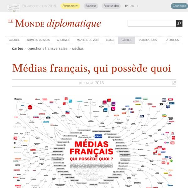 Qui possède les Médias français ? : par Marie Beyer & Jérémie Fabre (Le Monde diplomatique, juillet 2016)