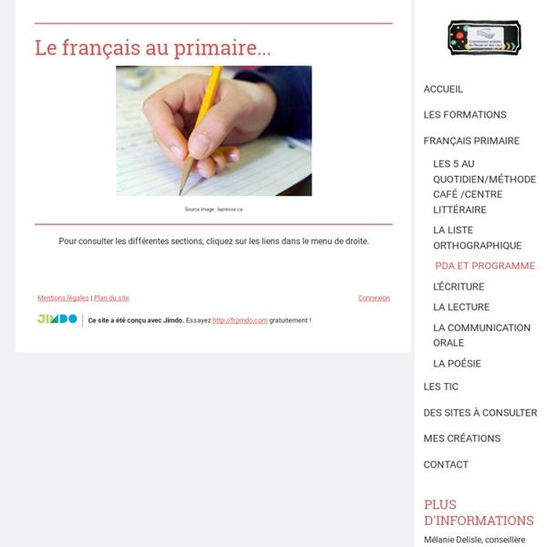 Français primaire - Site de espacecp !