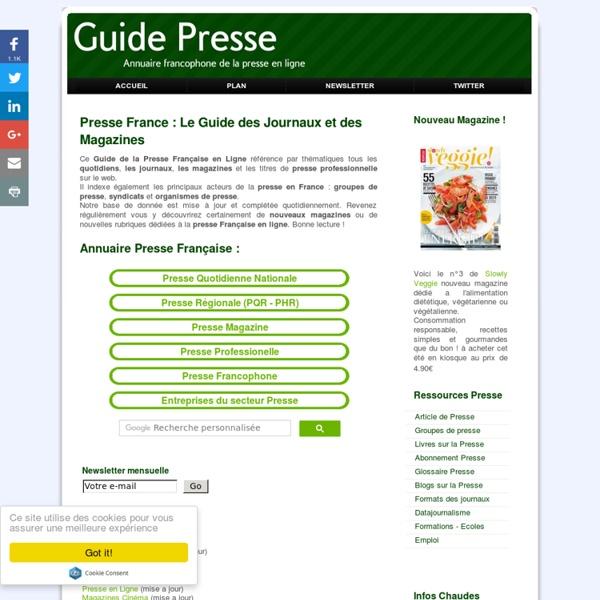 Presse Française : Annuaire des Journaux et des Magazines en Ligne