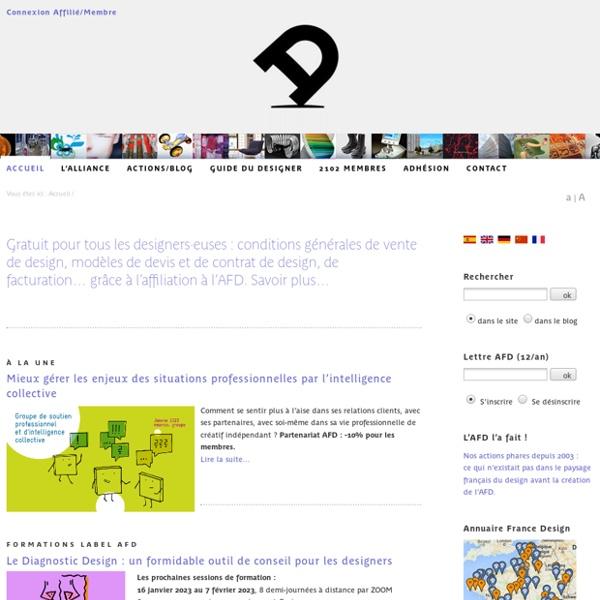 1er syndicat du design : Alliance française des designers AFD, défendre et promouvoir tous les métiers du design
