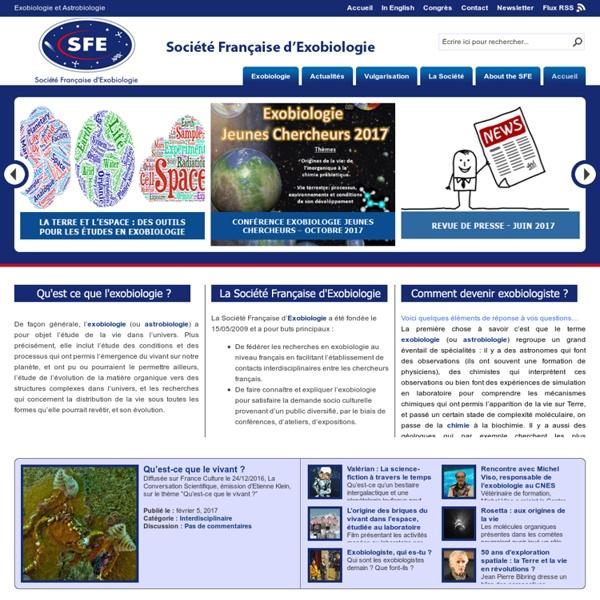 Société Française d\'Exobiologie - Site Officiel