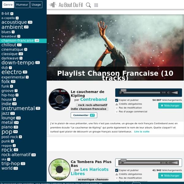Au bout du fil - Musiques chanson-francaise libres et gratuites à télécharger