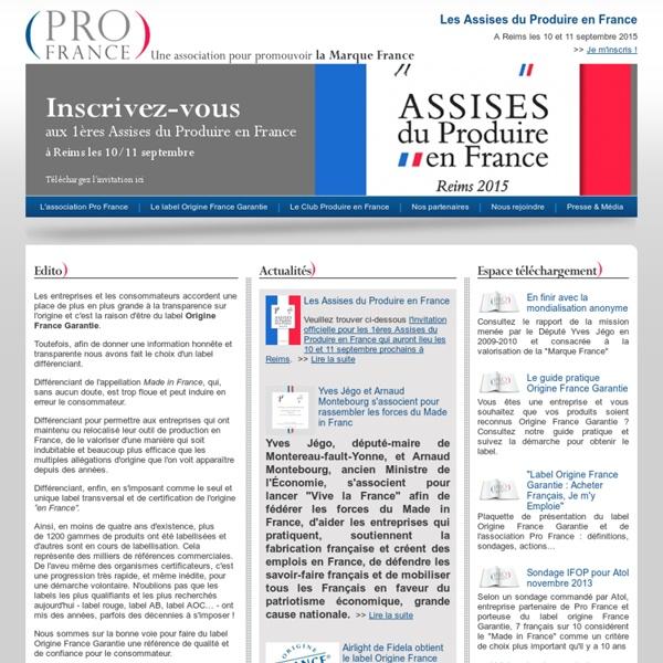 Pro France - Une association pour promouvoir la Marque France