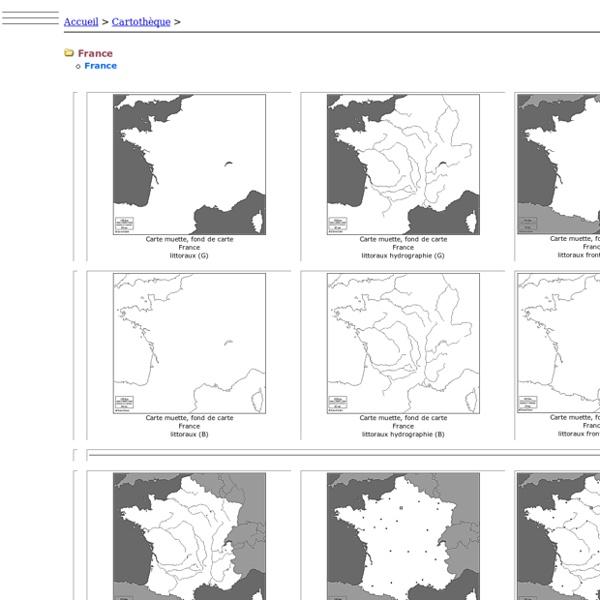 France: Carte muette, fond de carte