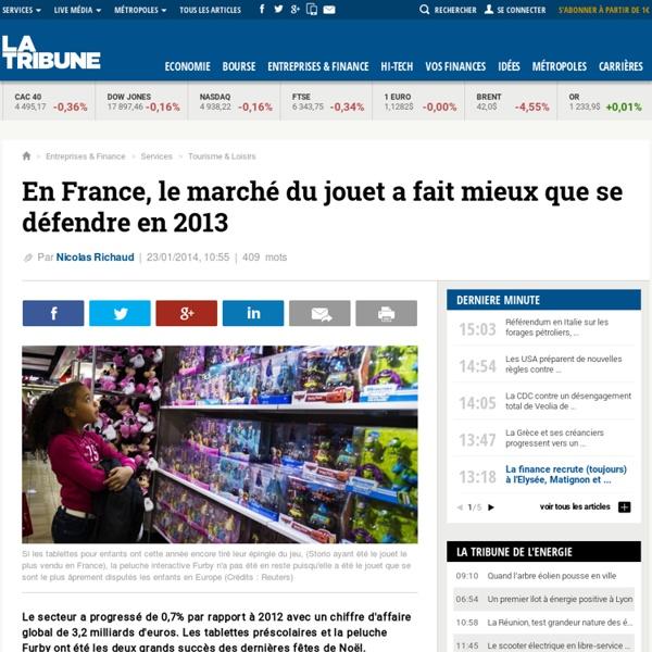 En France, le marché du jouet a fait mieux que se défendre en 2013