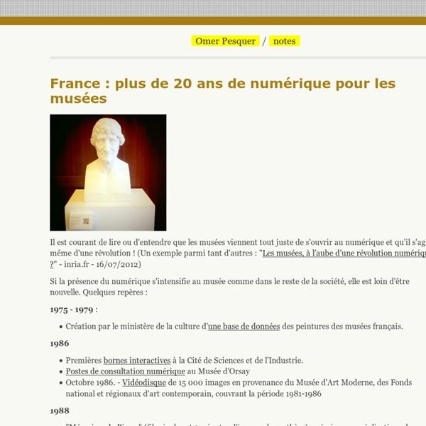 France : plus de 20 ans de numérique pour les musées