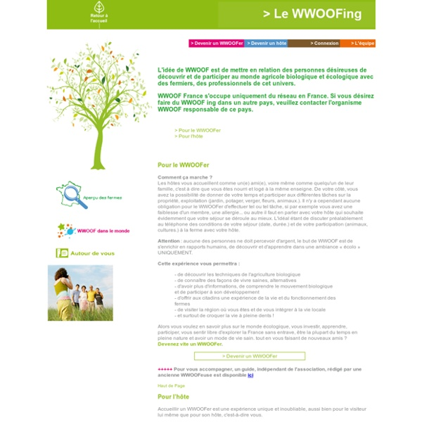France - WWOOF World Wide Opportunities on Organic Farms (France)