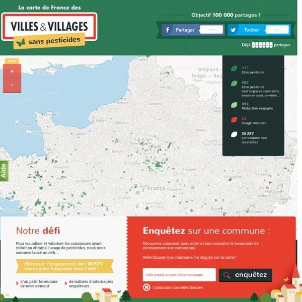 La carte de France des Villes et villages sans pesticides ! – Villes & Villages Sans Pesticides