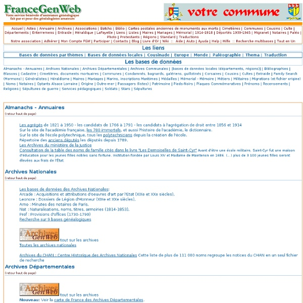 FranceGenWeb- liens