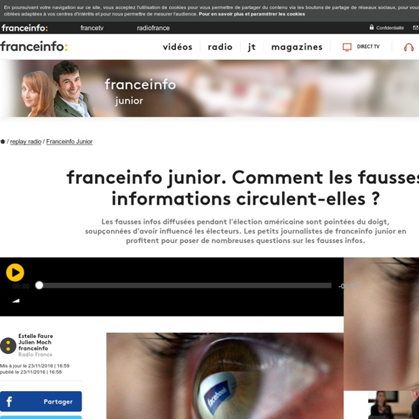 Franceinfo junior. Comment les fausses informations circulent-elles ?