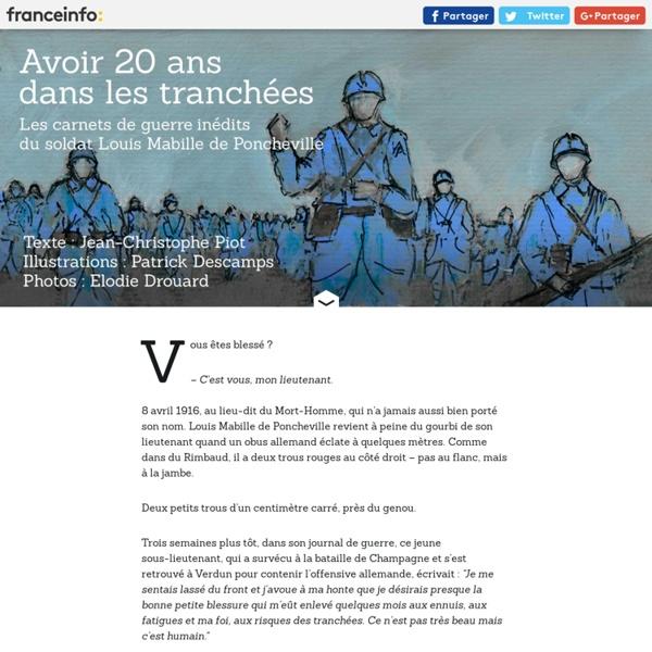 FRANCETV INFO. Verdun, à travers le journal inédit d'un poilu [récit] [archive]