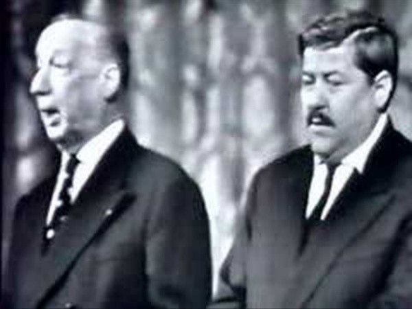 """Francis Blanche et Pierre Dac, """"Le Parti d'en rire""""."""