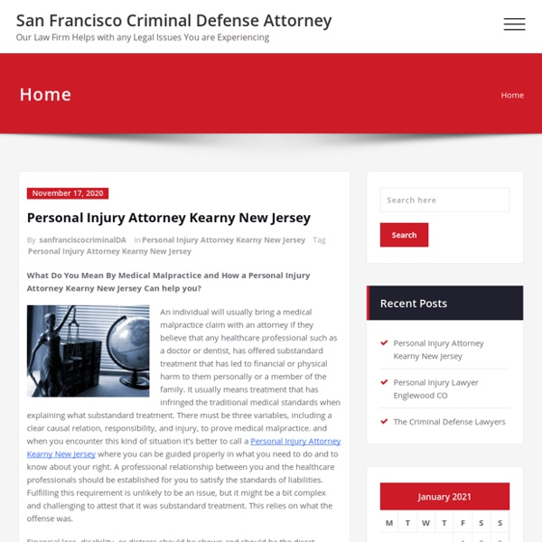 Lawbreaker Defense Lawyer & Accident Lawyer San Francisco California
