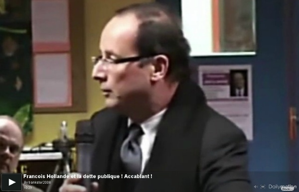Francois Hollande et la dette publique ! Accablant ! - une vidéo Actu et Politique