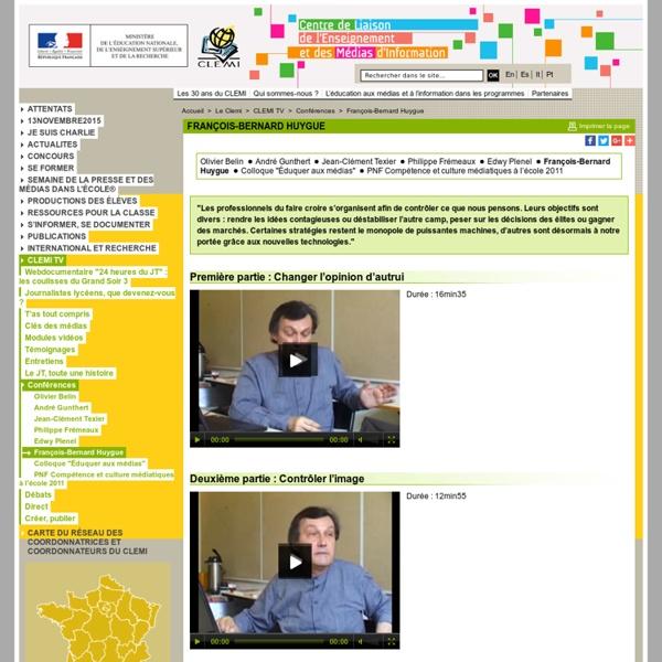 François-Bernard Huygue - Conférences - CLEMI TV