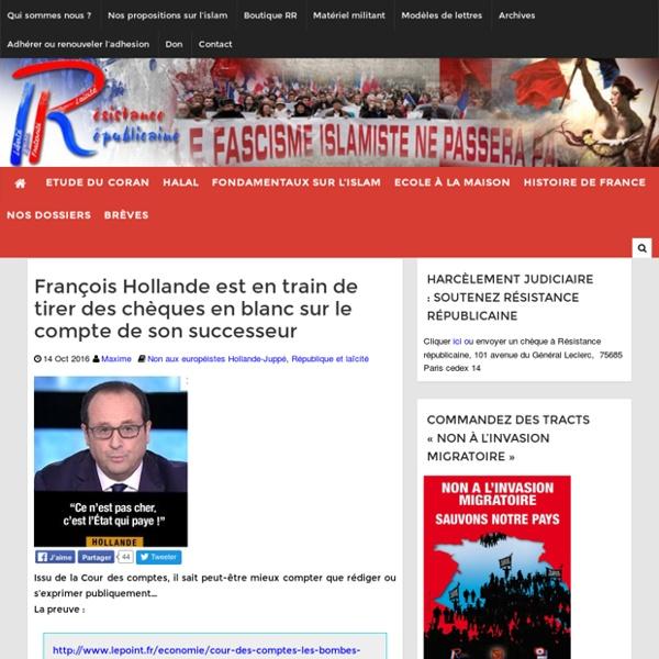 François Hollande est en train de tirer des chèques en blanc sur le compte de son successeur