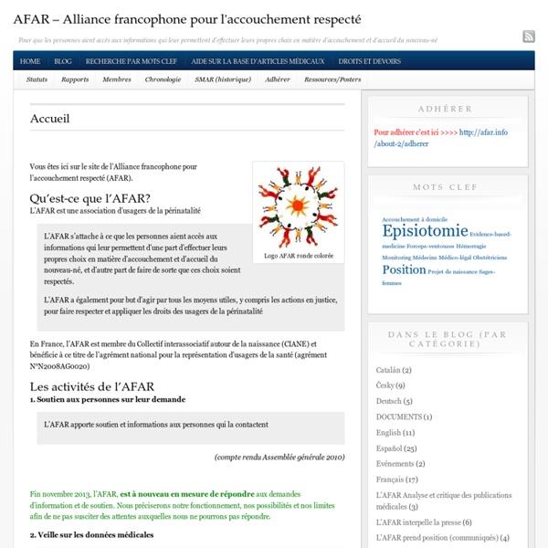 AFAR : Alliance francophone pour l'accouchement respecté