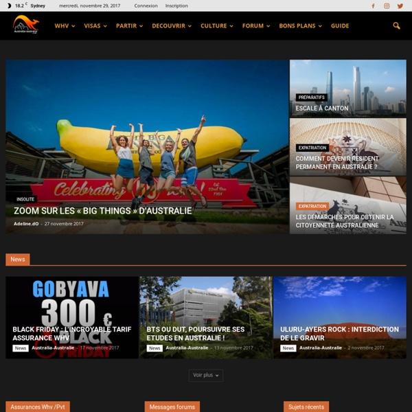 Australia-australie.com, 1er site francophone sur l'Australie sur le net !