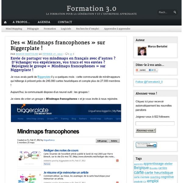 "Des ""Mindmaps francophones"" sur Biggerplate !"