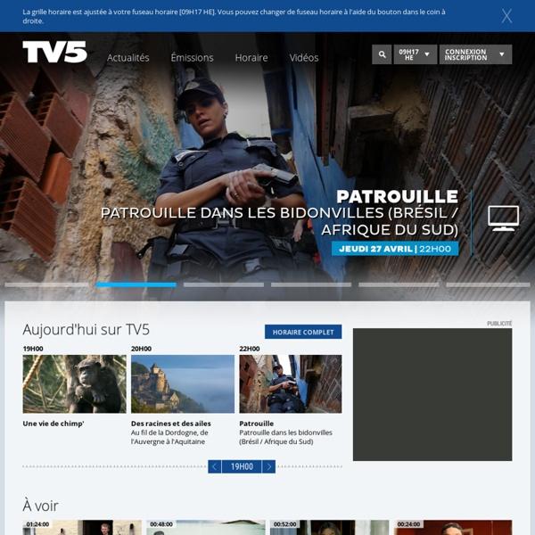 TV5 Québec Canada: télévision, francophonie canadienne & internationale