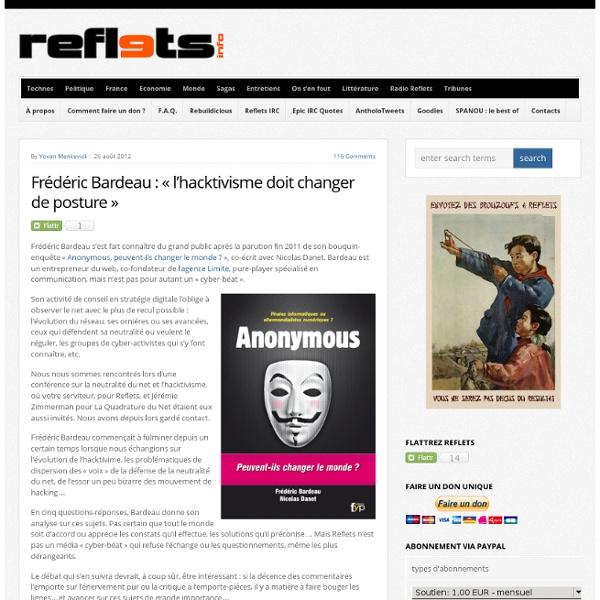 Frédéric Bardeau : «l'hacktivisme doit changer de posture»