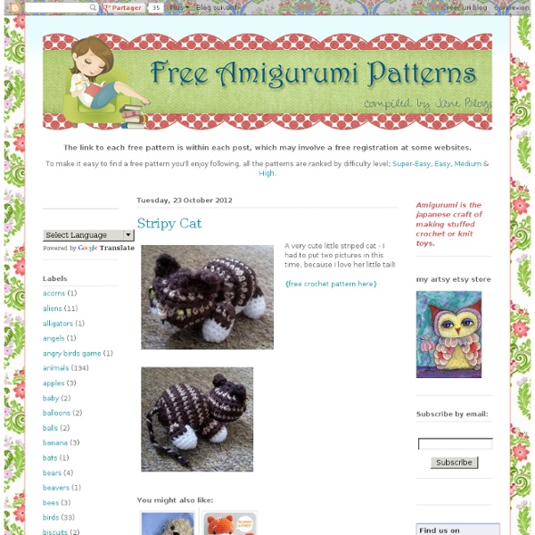 Free Amigurumi Patterns Online : Free Amigurumi Patterns Pearltrees