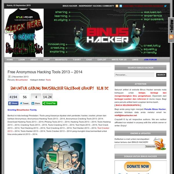 Free Hacking Tools 2013 – 2014