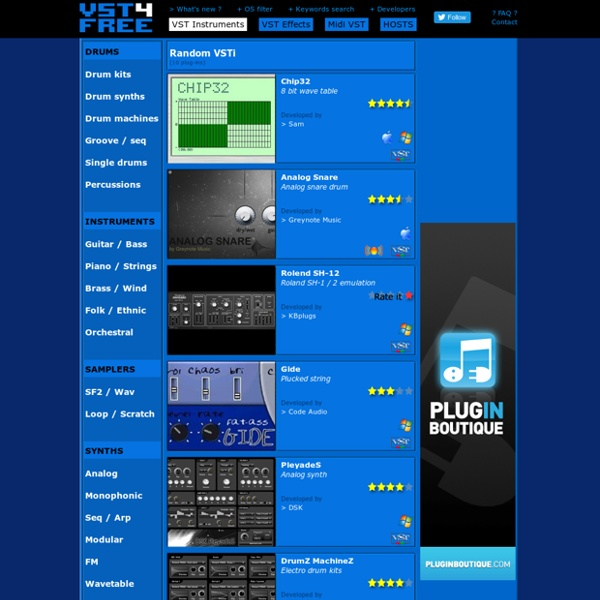 VST 4 FREE - Free Audio Plug-ins Archives