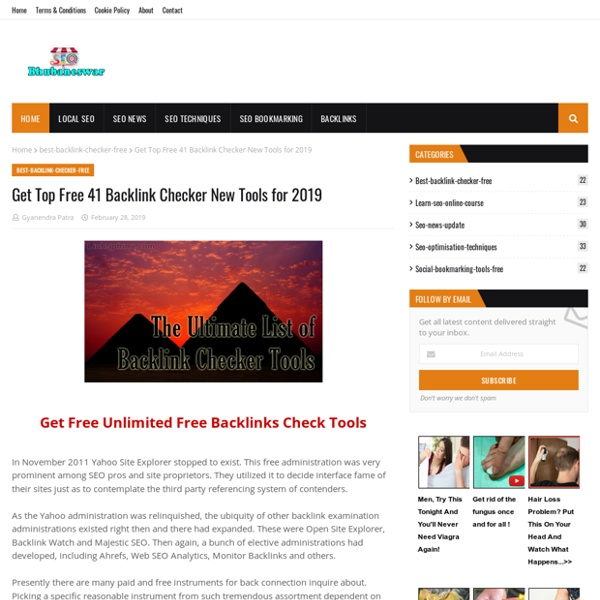 Get Top Free 41 Backlink Checker New Tools for 2019