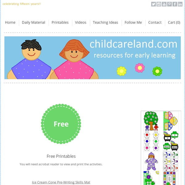 Early Learning Activities For Pre-K and Kindergarten