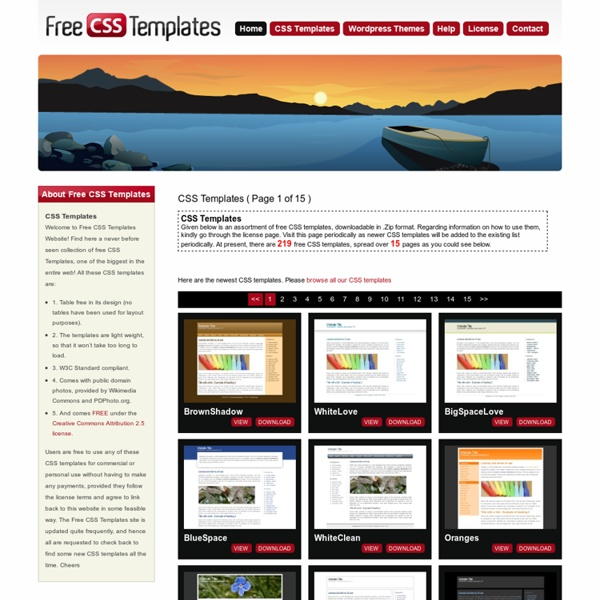 Free css templates download free css templates for Template css table