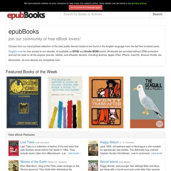 Free epub ebooks for your ipad android kobo nook and sony ereaders