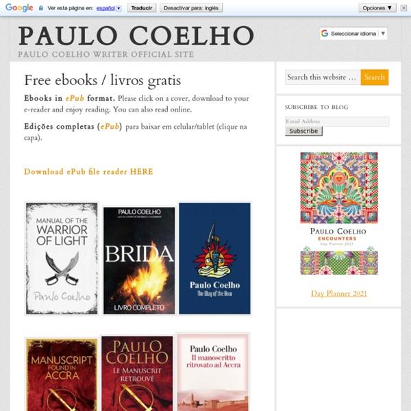 Paulo Coelho's Free ebooks / livros gratis