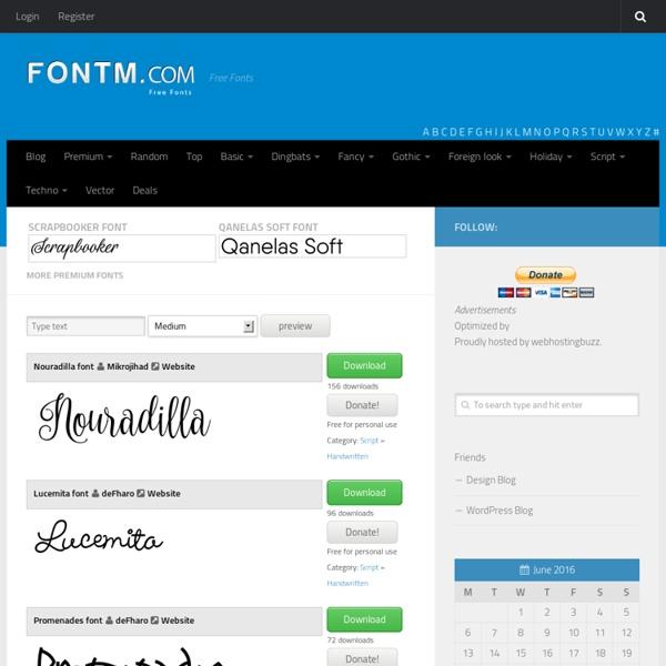 Free Fonts, Cool Fonts, Tattoo fonts - Fontm.com