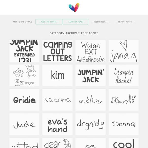 Scrapbookey fonts