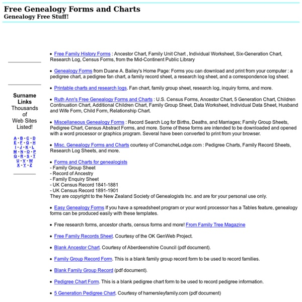 free genealogy forms and charts pearltrees