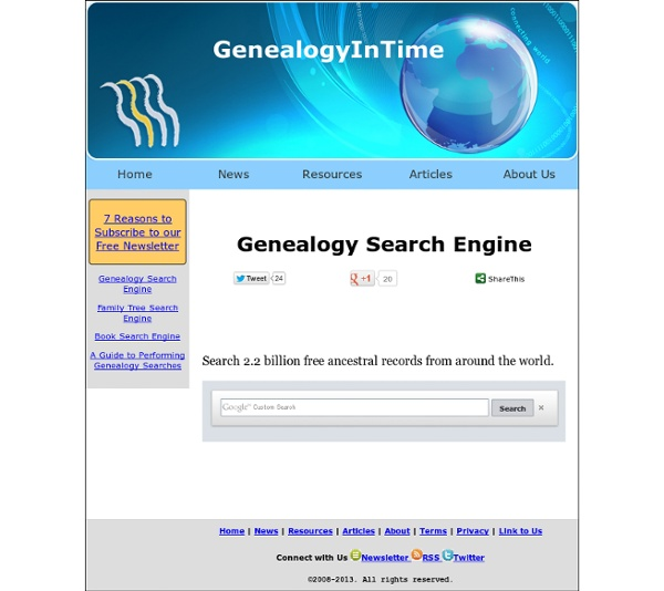 Free Genealogy Search Engine
